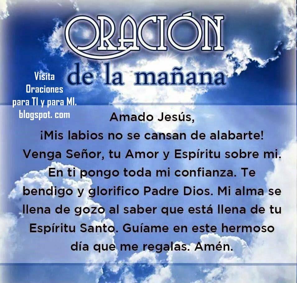 Venga Señor,  tu Amor y Espíritu sobre mí. En ti pongo toda mi confianza. Te bendigo y glorifico Padre Dios.