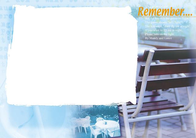 Bingkai Foto Biru Langit