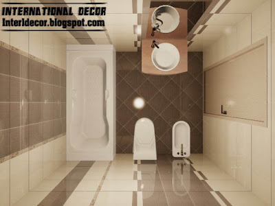 3d Tiles Design For Small Bathroom Design Ideas, Cream Brown Ceramic