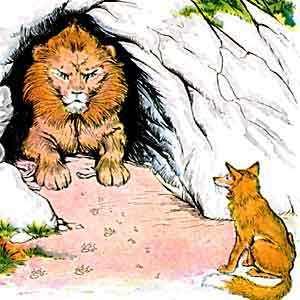fabula de la fontaine el leon enfermo y los zorros