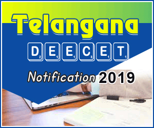 Telangana DEECET Notification 2019