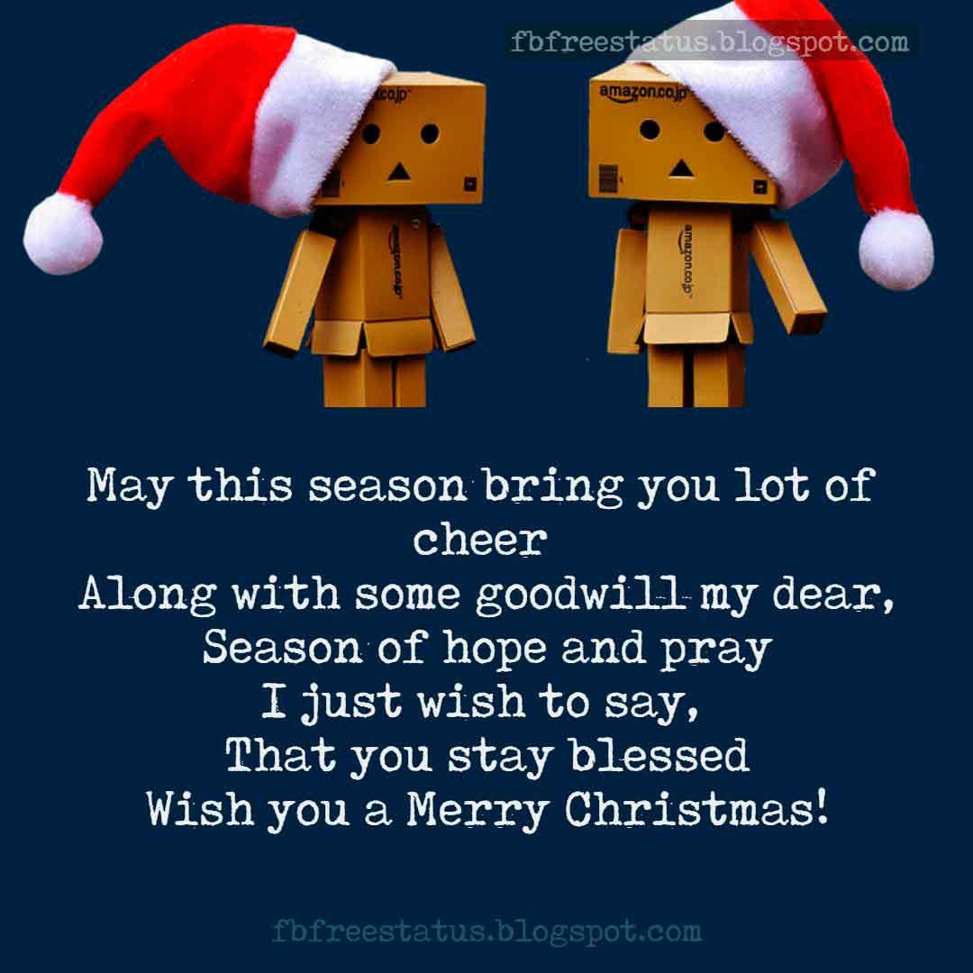 Christmas Greeting Word for Christmas Card