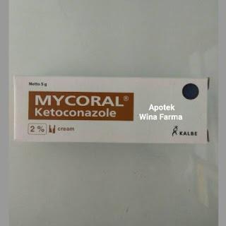Obat jamur kulit  mycoral cream