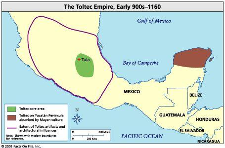Cultura Tolteca y su ubicación