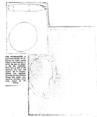 Mystery Sky Object Seen By Teachers and 400 Children - Napier Daily Telegraph (New Zealand) (Cont A) 5-7-1970