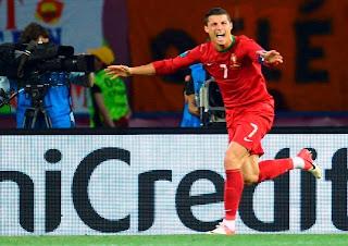 Cristiano Ronaldo Cetak 2 Gol Ke Gawang Belanda