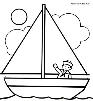 Mewarnai Gambar Kapal Laut Infotiket Com
