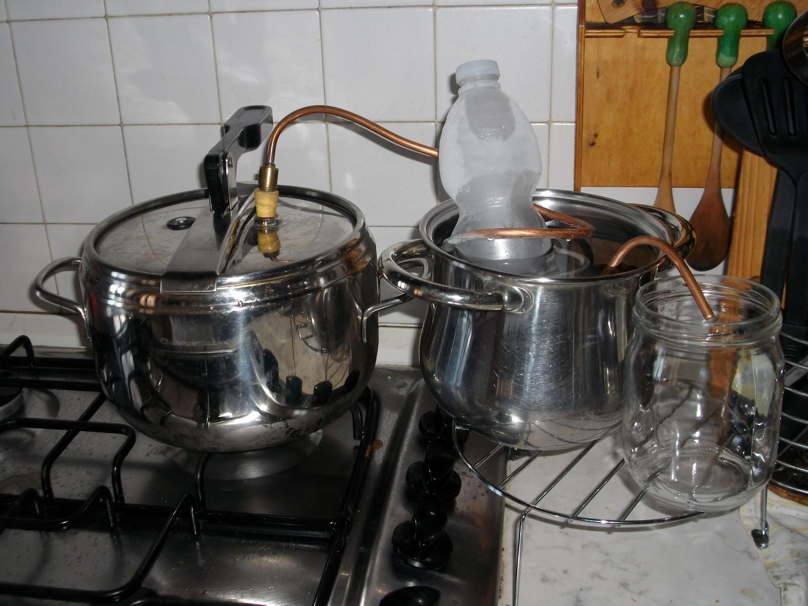 magica natura: la distillazione in corrente di vapore
