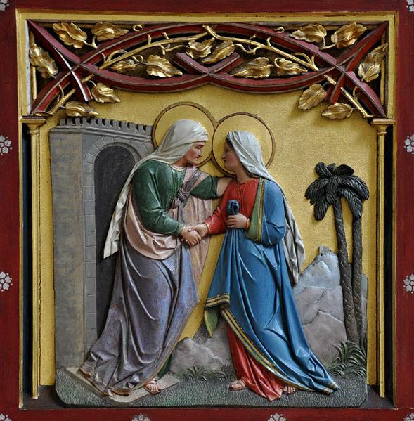 Resultado de imagem para maria visita sua parenta isabel