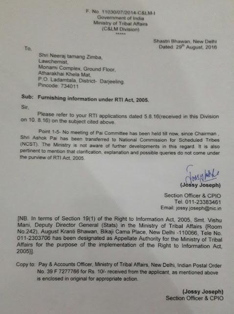 Rti on Tribal status to 11 Gorkha Commun ities