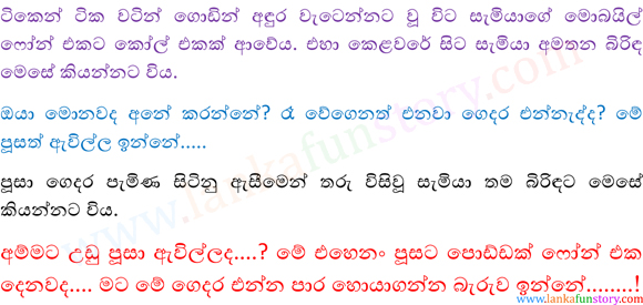Sinhala Fun Stories-Cat-Part Two