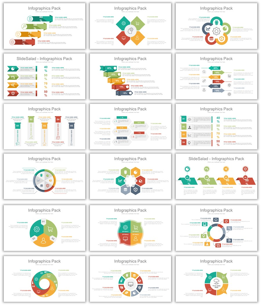 انفوجرافيك جاهز لتصميم عروض بوربوينت