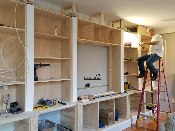 The electrical - Adding lights to built-ins - Mr. RLC