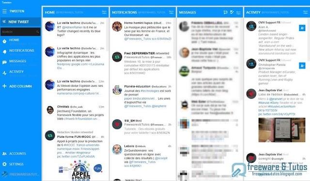 Tweeten : un clone de TweetDeck pour votre ordinateur