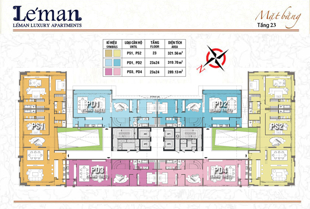 Mặt bằng Leman C T Plaza tầng 23
