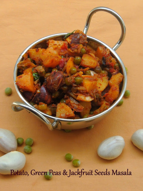 Potato, Green peas & Jackfruit seeds Masala