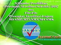 8 Standar Pendidikan (Persiapan Akreditasi Sekolah) 2017 dan File-File Perangkat Akreditasi Jenjang SD SMP/MTs SMA/MA SMK