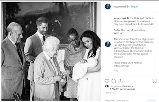 The Duke and Duchess of Sussex are pleased to announce they have named their first born child:  Archie Harrison Mountbatten-Windsor  This afternoon Their Royal Highnesses introduced Her Majesty The Queen to her eighth great-grandchild at Windsor Castle. The Duke of Edinburgh and The Duchess' mother were also present for this special occasion.  Photo credit: Chris Allerton ©️SussexRoyal