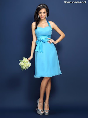 Vestidos de damas de honor color azul