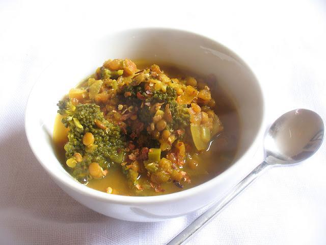 Broccoli Lentl  Soup