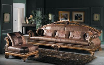 sofa ukir jog kulit