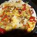 Light pepper and mushroom omelette