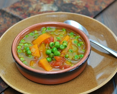 East African Pea Soup, a great bowl of spicy vegan soup, just sweet potato, frozen peas and pantry spices. For Weight Watchers, just #PP2.