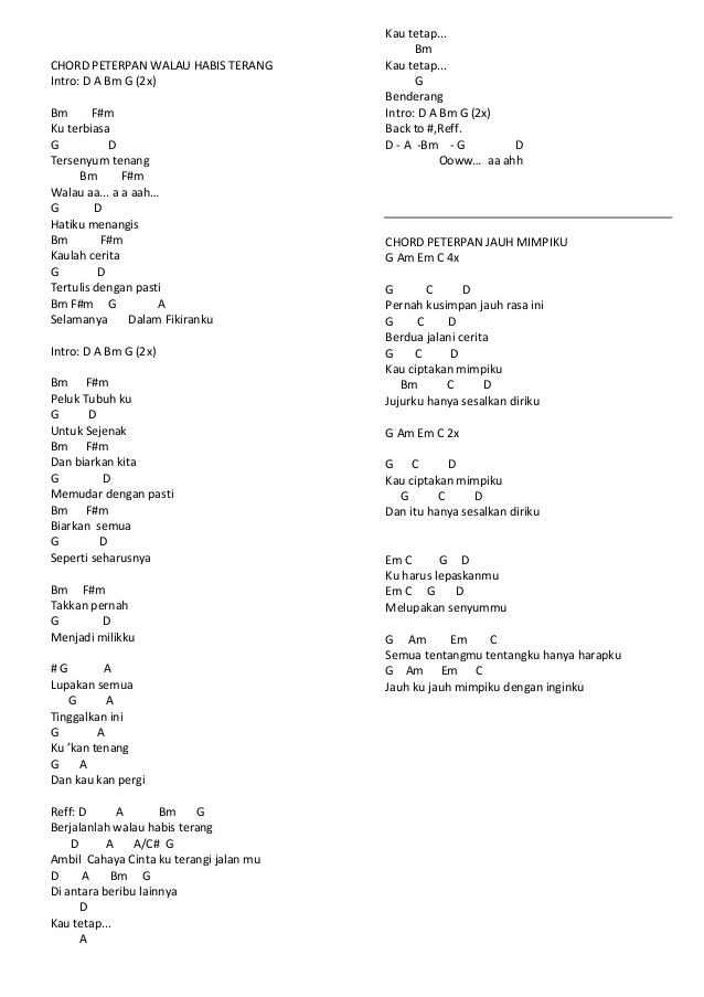 Chord Menunggu Pagi : chord, menunggu, Chord, Menunggu, Peterpan, Walls