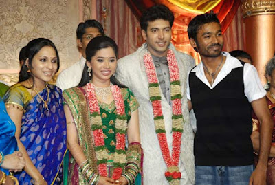dhanush-aishwarya-at-Jayam-Ravi-aarthi-wedding-reception1