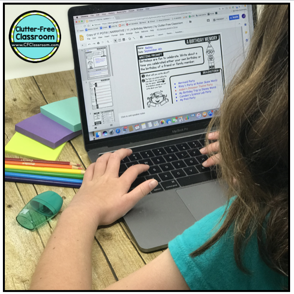 Digital Paragraph of the Week for Google Classroom is a great way to practice paragraph writing and technology skills at the same time. Going paperless makes writer's workshop easy. This resource also includes print and go no prep versions as well as prompts for interactive notebooks too.