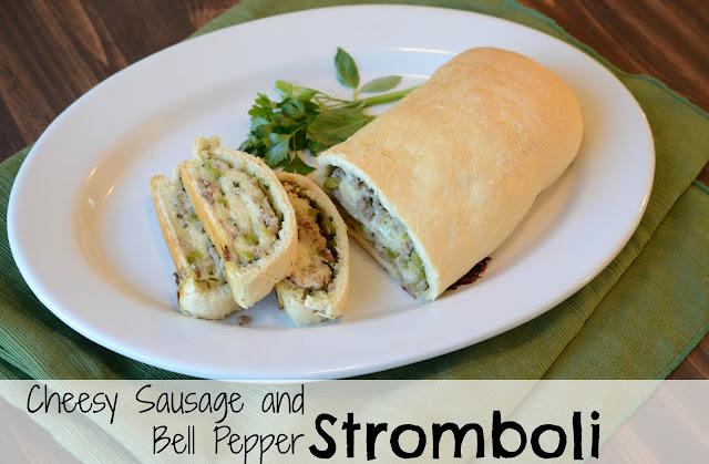 Cheesy Sausage and Pepper Stromboli