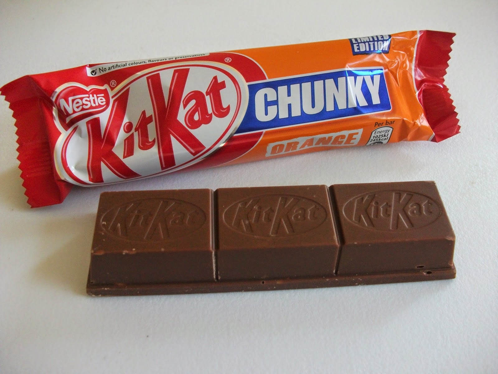 kitkat chunky orange limited edition