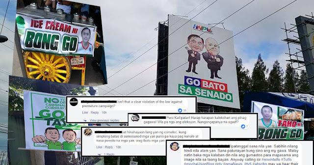 Premature Campaign: Billboard ni Bong Go at Bato Trending sa Social Media.