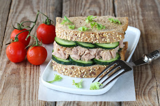 Cucumber and Tuna Sandwich