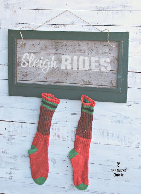 Rustic Window Screen Sleigh Rides Sign www.organizedclutter.net