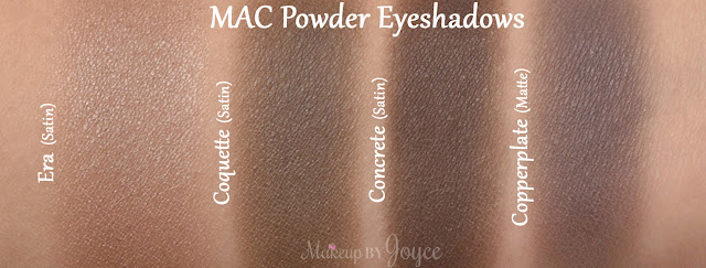 Mac Concrete Coquette Copperplate Eyeshadow Comparison Swatch