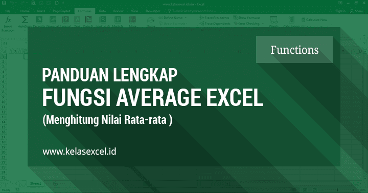 Fungsi Average - Rumus Menghitung Rata-rata Excel