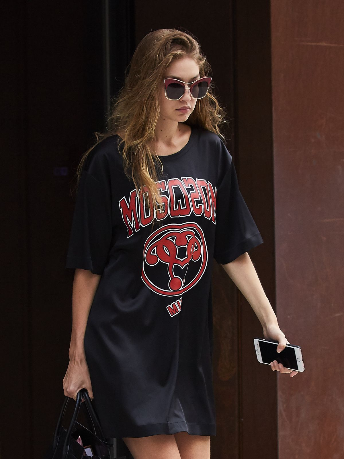 HQ Photos of Gigi Hadid with Short dress & Sunglasses Leaves Her Apartment In New York
