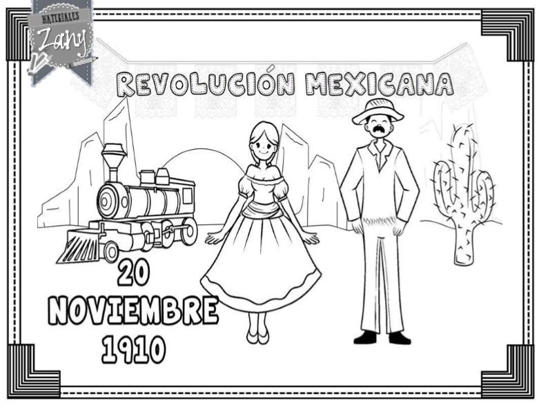 Dibujos Para Colorear 20 Noviembre Preescolar: Revolución Mexicana