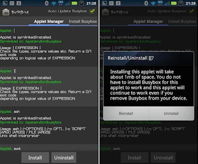 Tampilan Aplikasi BusyBox Pro