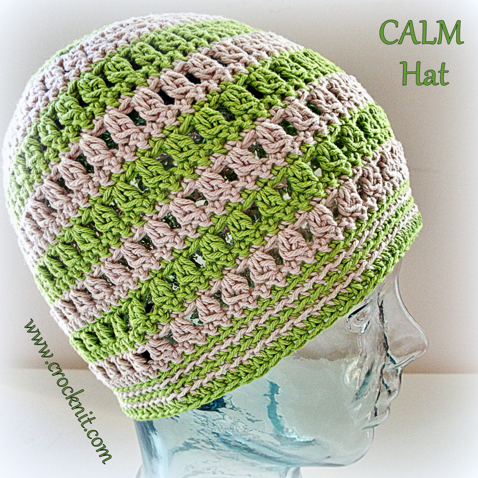 MICROCKNIT CREATIONS: SLEEP Hats Free Crochet Pattern #4 CALM HAT