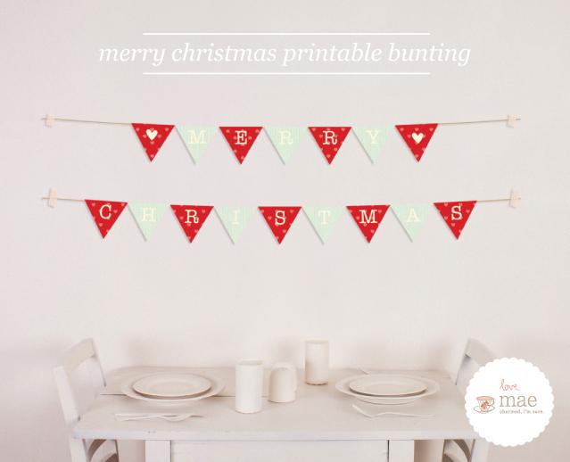 Christmas Freebies Part 4 Christmas Printable Bunting