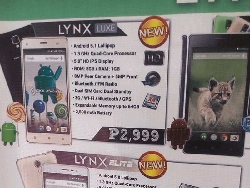 SKK Lynx Luxe Spotted Too, An Entry Level Android 5.1 Lollipop Device Priced At Just 2999 Pesos!