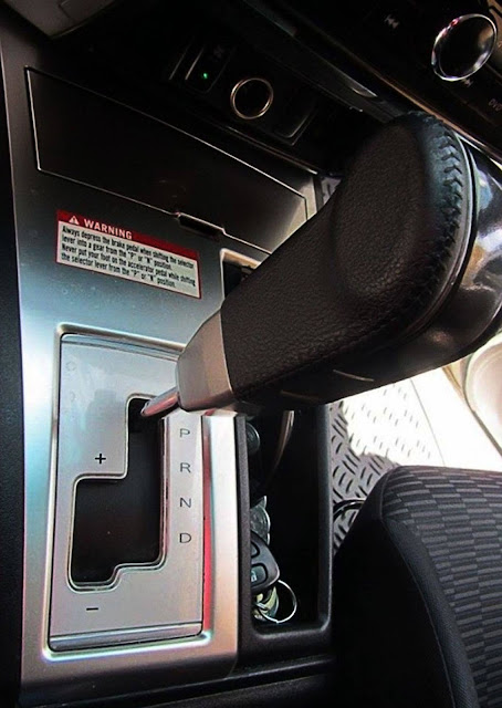 automatic transmission shifter paddle in a car