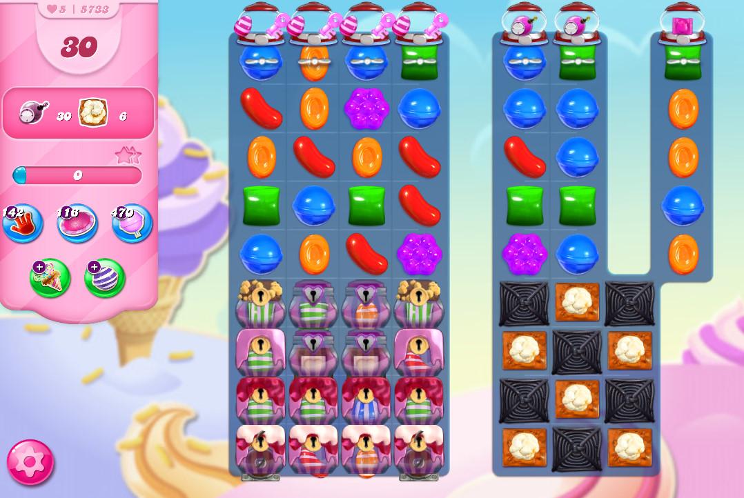 Candy Crush Saga level 5733