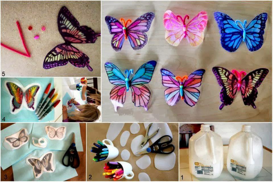 Como Decorar Una Botella En Forma De Mariposa