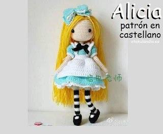 PATRON GRATIS ALICIA | ALICIA EN EL PAIS DE LAS MARAVILLAS AMIGURUMI 36374
