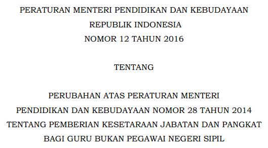 Hasil gambar untuk peraturan menteri pendidikan nomor 12 tahun 2016