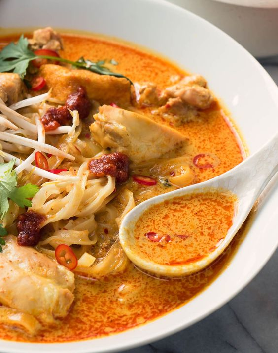 Laksa is a slightly spicy coconut noodle soup that's sure to please.