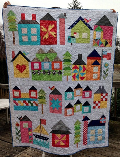 Moda Be My Neighbor Free Pattern Quilt by Bear Creek Quilting Company